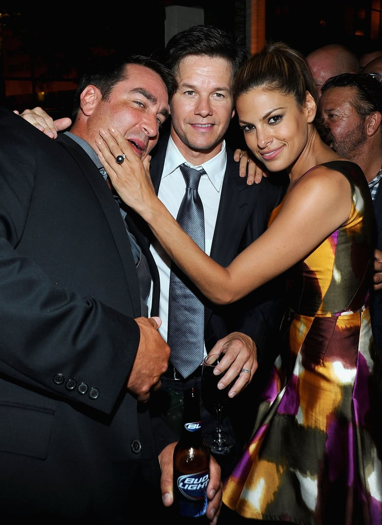 Eva Mendes, Mark Wahlberg and Will Ferrell at the Premiere of The Other Guys