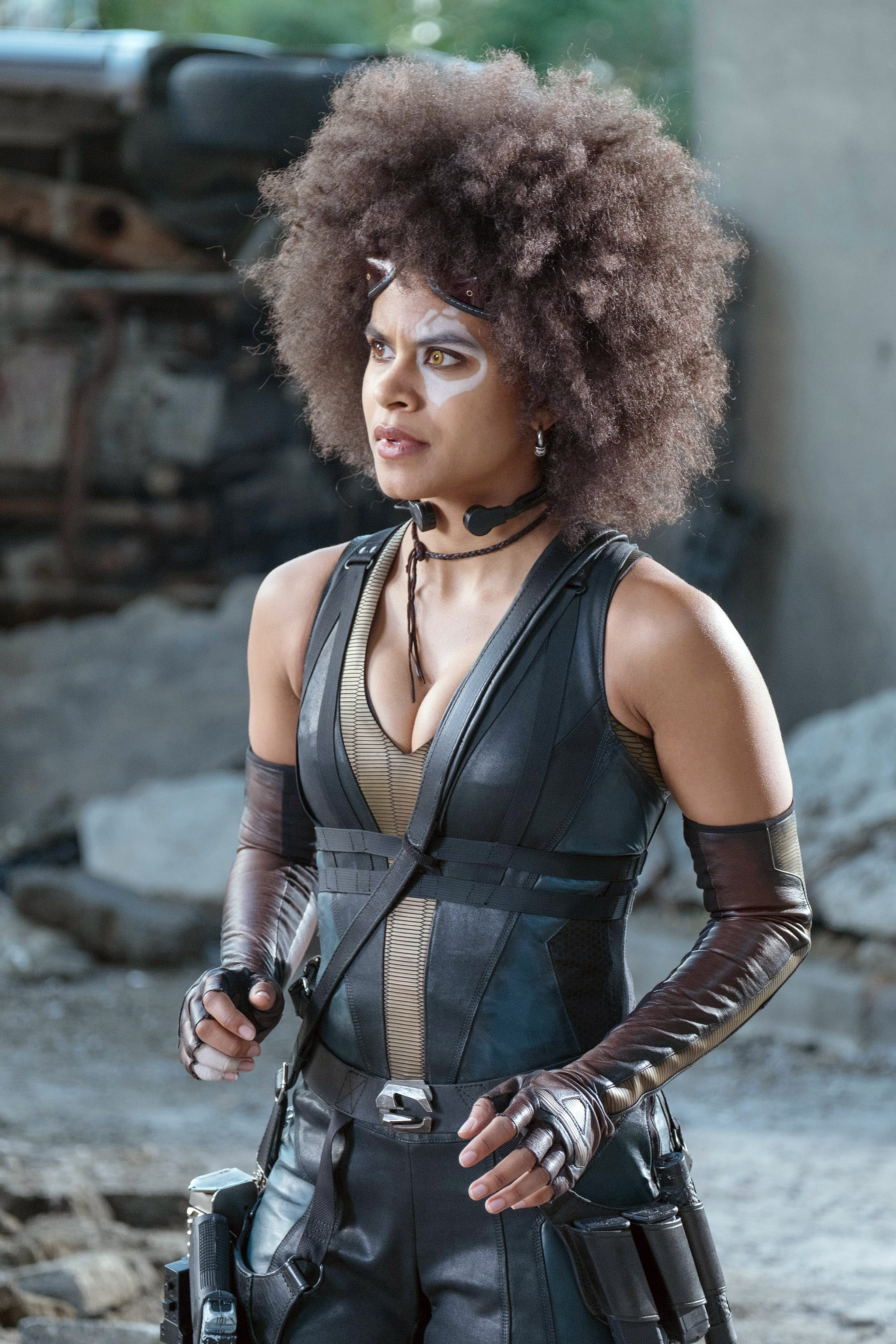 DEADPOOL 2, Zazie Beetz, 2018. ph: Joe Lederer/TM & Copyright  20th Century Fox Film Corp. All rights reserved./courtesy Everett Collection