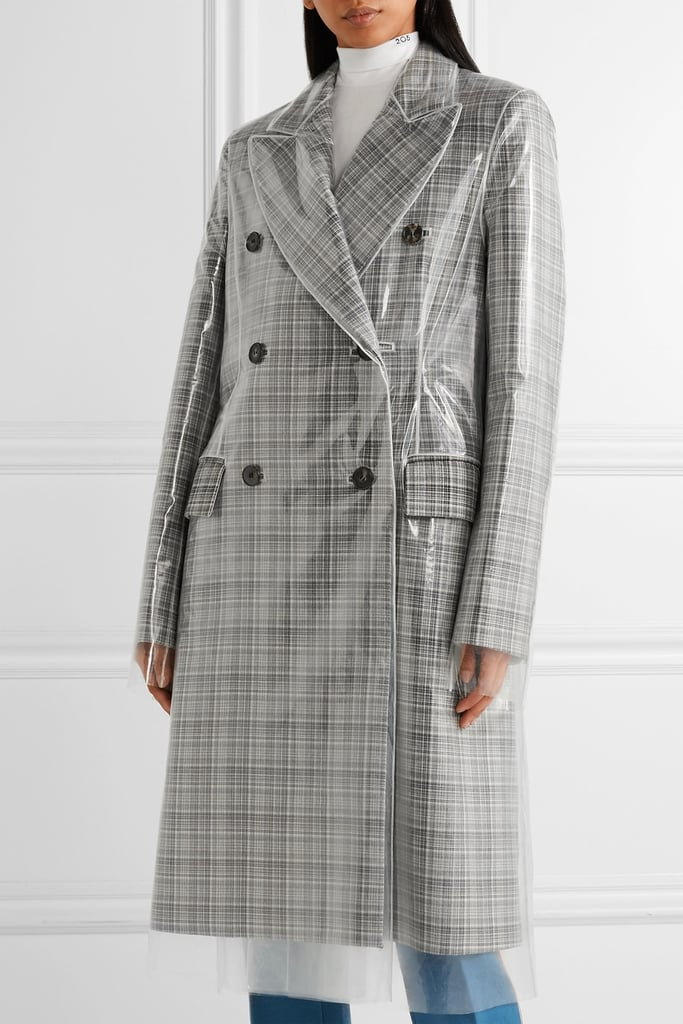 Calvin Klein Double-Breasted PVC Coat