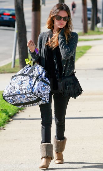 Pictures of Rachel Bilson Toting an Oversized Bag in Santa Monica