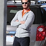 Andrew Garfield at a Gas Station in LA