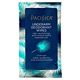 Pacifica Coconut Milk & Essential Oils Underarm Deodorant Wipes — 10ct