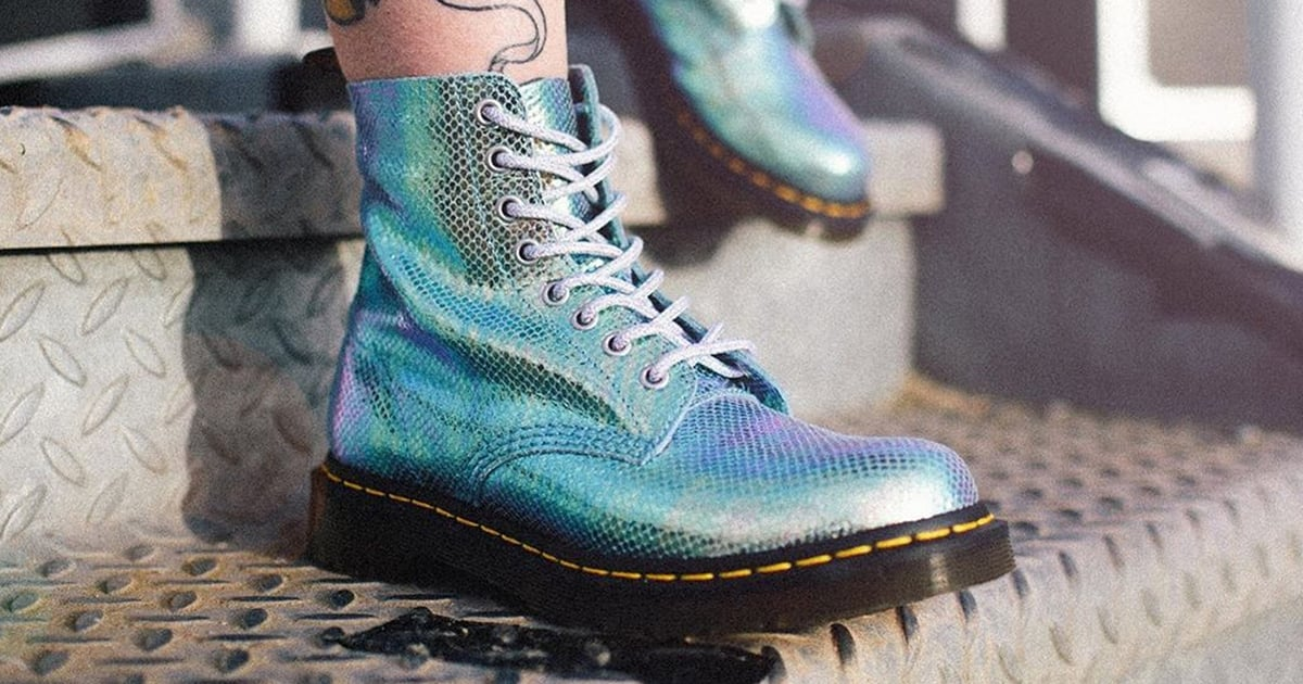 If I Were Ariel, I'd Totally Trade in My Tail to Wear These Iridescent Dr. Martens Instead