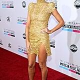 Heidi Klum hit the red carpet at the American Music Awards.