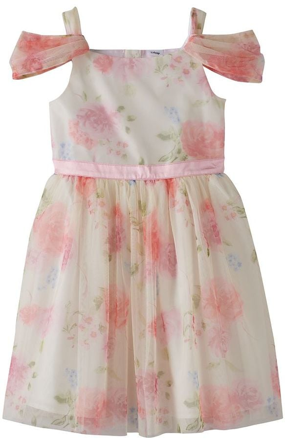 Jumping Beans Disney Beauty and the Beast Girls Floral Cold-Shoulder Dress ($38, originally $54)