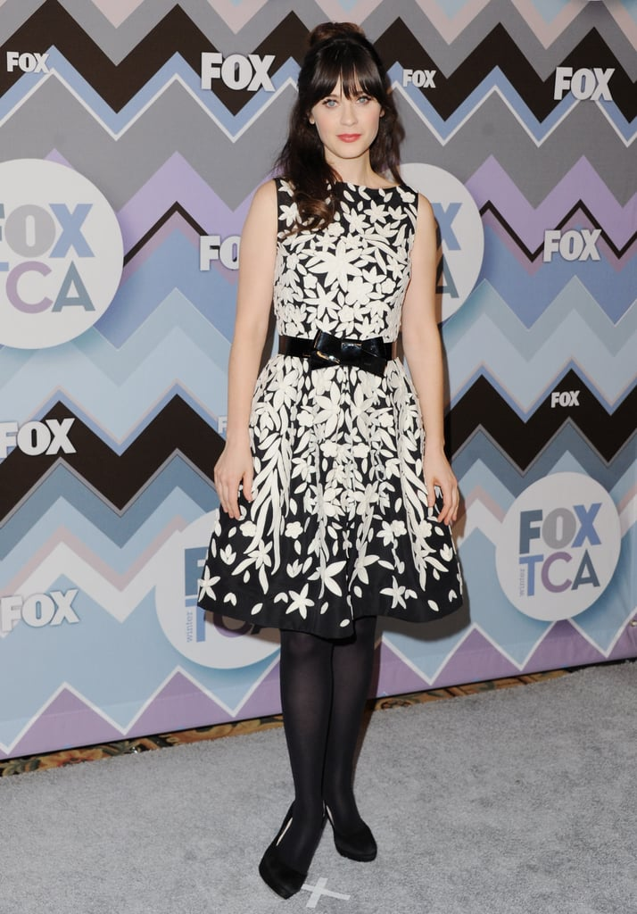 Zooey Deschanel attended the FOX All-Star Party.