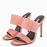 Topshop Stella Blush Pink Transparent Mules
