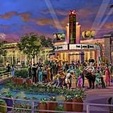 Disneytown's Broadway Plaza Rendering