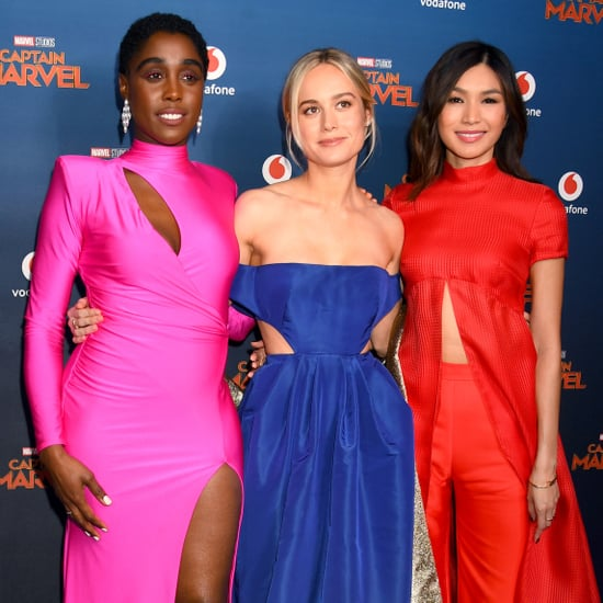 Pictures of Brie Larson, Lashana Lynch, and Gemma Chan