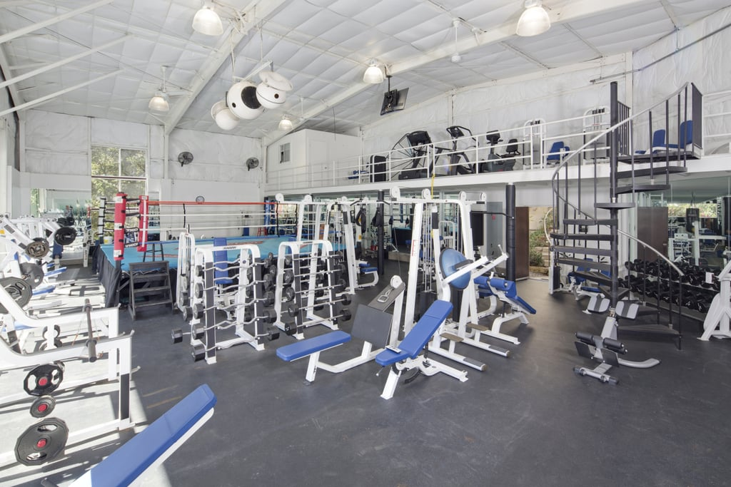 The gym and boxing ring mark wahlberg s house in beverly