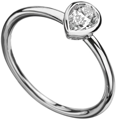 Phyllis Bergman Pear Bezel Set Solitaire Engagement Ring ($1,535)