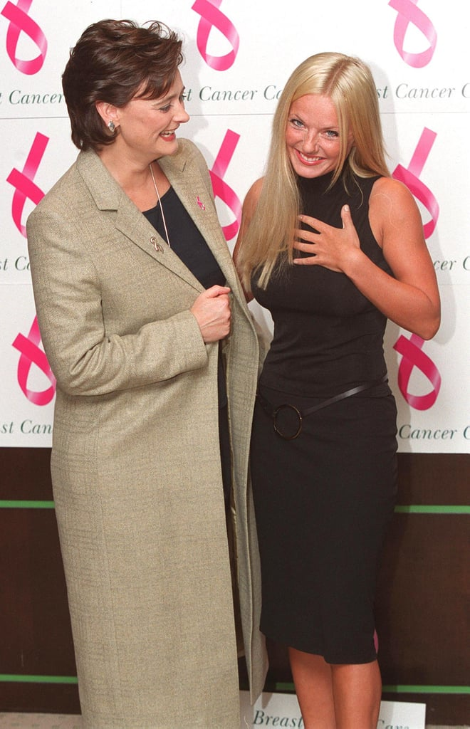 Geri Halliwell and Cherie Blair launched the Breast Cancer Awareness Month in London during January 2000.