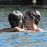 Halle Berry and Olivier Martinez PDA in Spain.