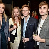 Suki met with Sam Claflin, Laura Haddock, and Douglas Booth.