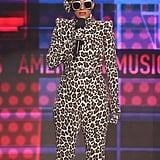 Tracee's one of the few people who can pull off a full leopard-print suit by Sergio Hudson with coordinating accessories.
