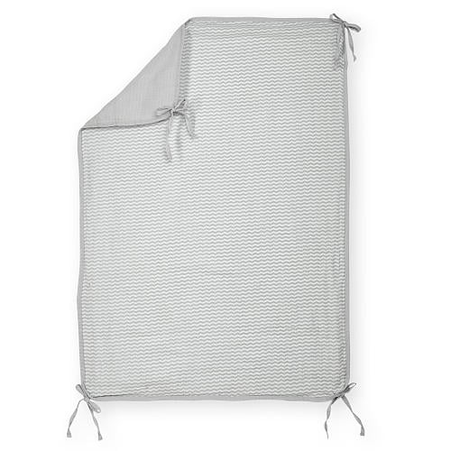 Lightweight Muslin Stroller Blanket With Ties