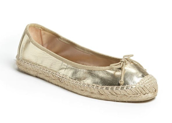Not quite a ballet flat and not quite a traditional espadrille slip-on, this metallic gold iteration looks cozy and cool all in one go. Ivanka Trump Megan Flat ($65, originally $130)