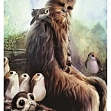 Chewie and Porgs Wall Poster Print