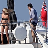 Kate Moss and Jamie Hince were on board the Lionchase.