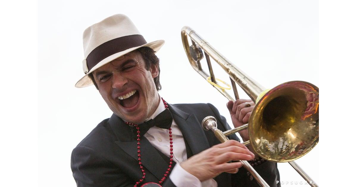 Ian Somerhalder at Mardi Gras For Krewe of Endymion Parade ...