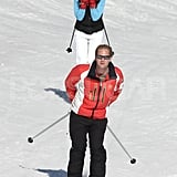 George Percy and Pippa Middleton gained some speed while skiing in France.