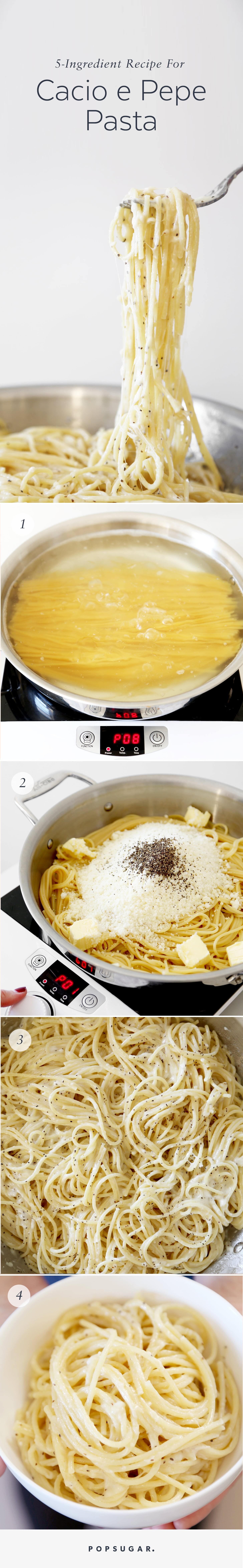 Fast Easy Five Ingredient Recipe For Cacio E Pepe Pasta