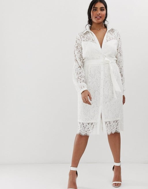 Paper Dolls Plus Lace Shirt Dress
