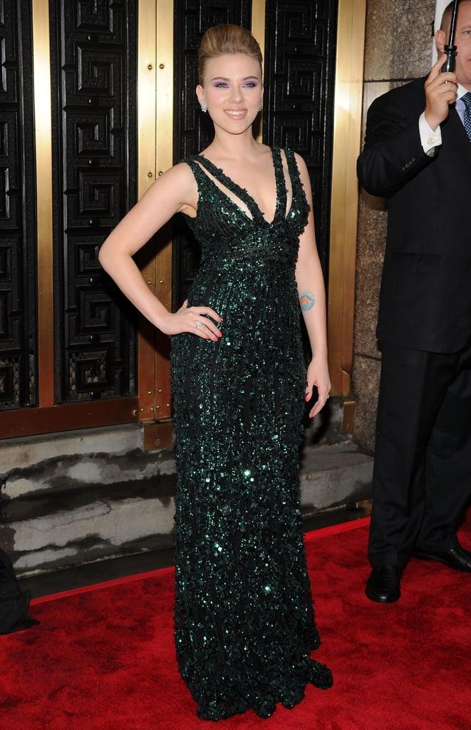 Scarlett Johansson at the Tony Awards, 2010