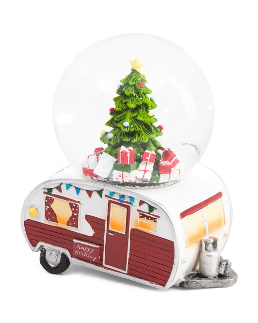 camper car snowglobe 17 - Christmas Camper Decoration