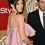 Kate Beckinsale showed off the back of her dress.