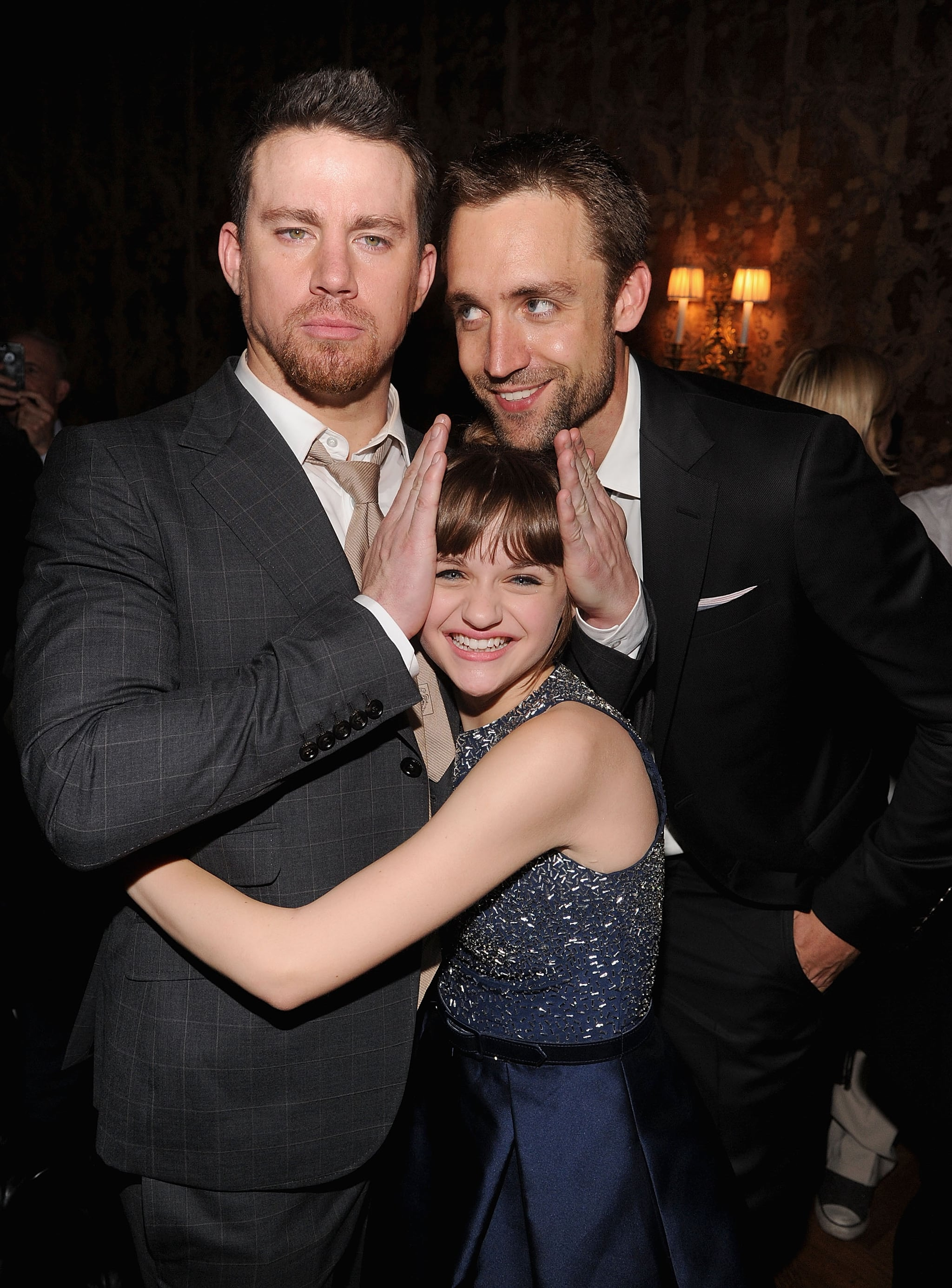 Channing Tatum joked with his costar Joey King and his producing partner Reid Carolin at the afterparty of their White House Down premiere in NYC.