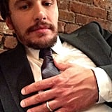 James Franco sported a suit (and a wedding band). Source: Instagram user jamesfrancotv