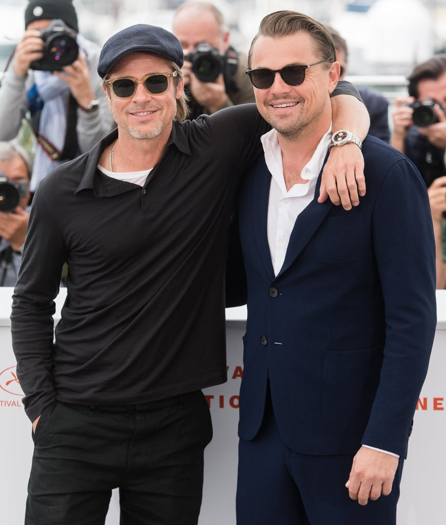Brad Pitt and Leonardo DiCaprio at a Cannes Photocall For Once Upon a Time in Hollywood