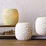 west elm Pierced Porcelain Tealights — Constellation