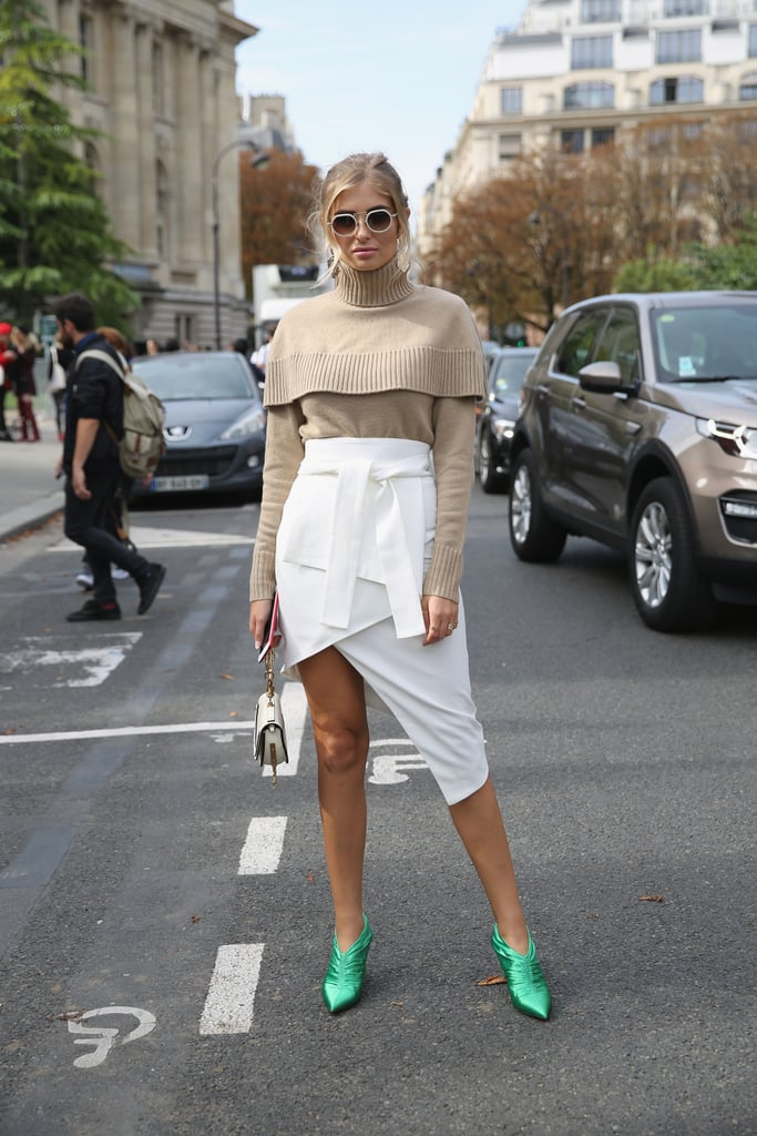 Break Up a Neutral Look With Bright Shoes