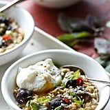 Savory Oatmeal With Miso-Mushrooms and Poached Egg