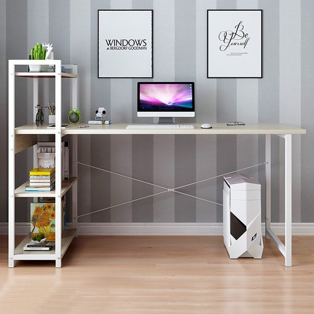 Willwinchan Computer Desk With Shelves