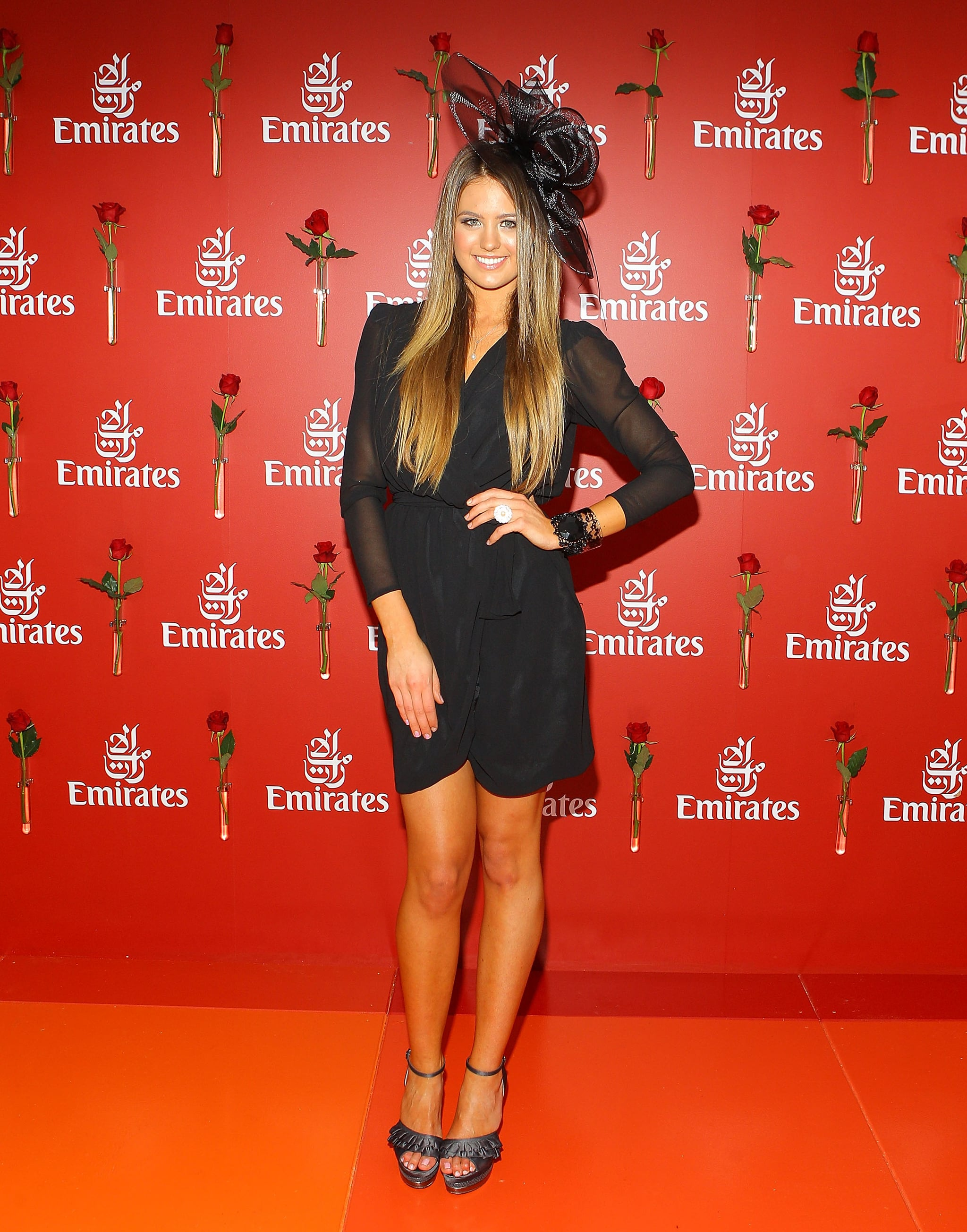 Ever chic all black, on Jacinta Campbell