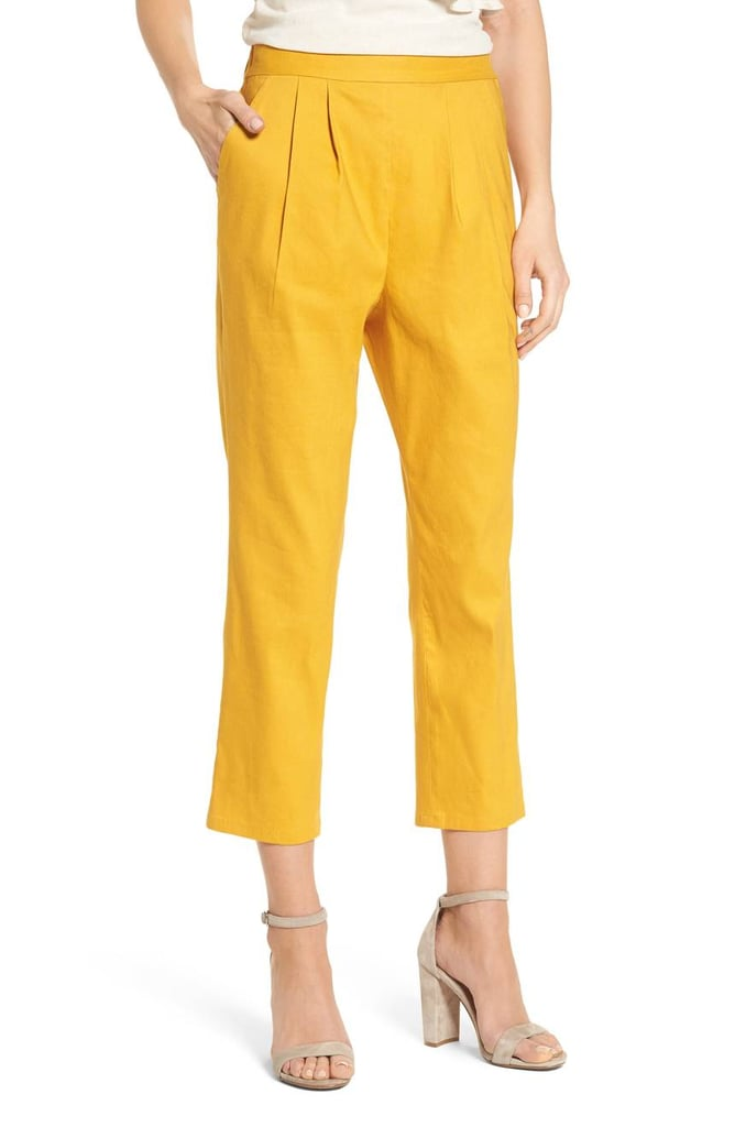 Leith Pleat Front Crop Pants