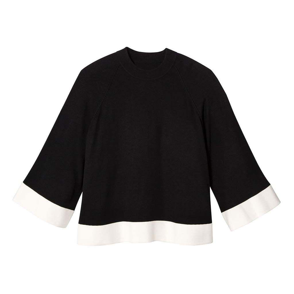 Women's Black and White High Neck Sweater Knit Top ($28)