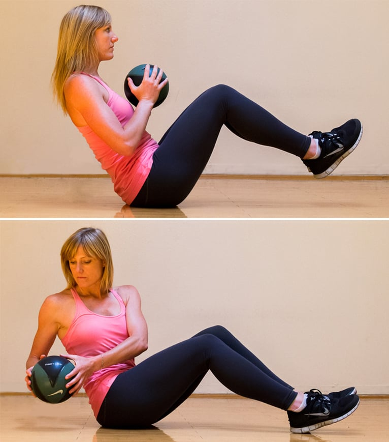 Seated Ball Twist