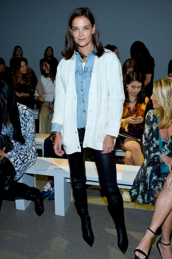 Katie Holmes at the Elie Tahari New York Fashion Week Show