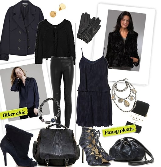 Shop Amazing Black and Navy Blue Combination Outfits for Winter 2010