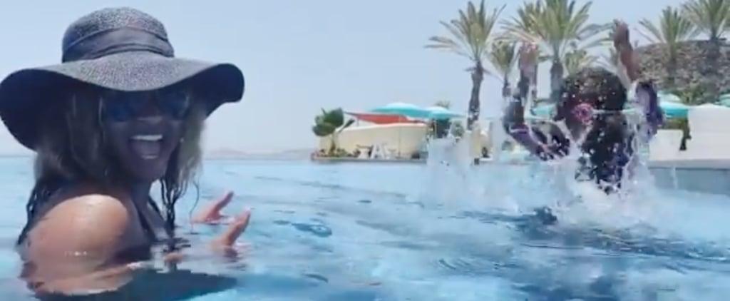 Video of Ciara Teaching Her Kids How to Swim