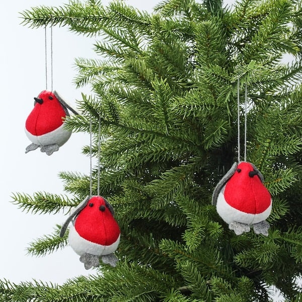 Vinterfest Felt Bird Hanging Decorations