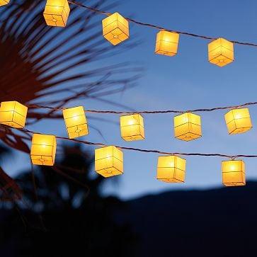 White Lantern String Lights ($29)