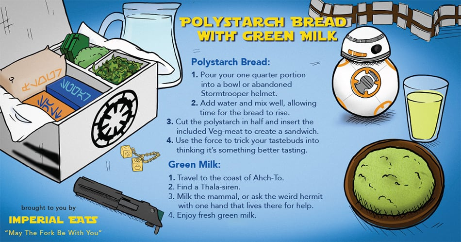 "Star Wars ""Polystarch Bread With Green Milk"""