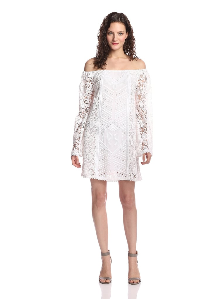 Chelsea Flower Frances Off-Shoulder Lace Dress ($372)