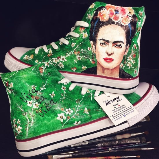 Frida Kahlo Hand-Painted Sneakers
