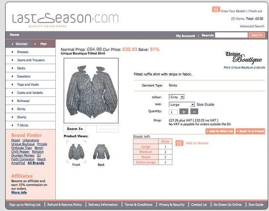 Fab Site: LastSeason.com